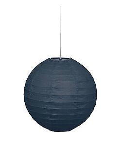 25cm Round Black Paper Lantern