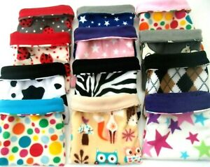 **40 DESIGNS** LARGE*EX LARGE*FLEECE SNUGGLE GUINEA PIG BED POUCH BAG CUDDLE CUP