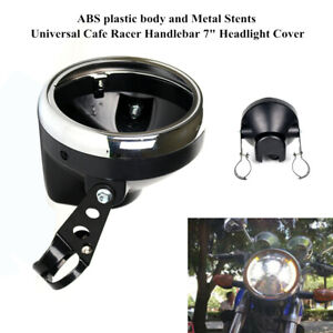 """7""""Motorcycle Front  Headlamp Round Fairing Cover Protection Light Housing Stent"""