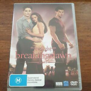 The Twilight Saga Breaking Dawn Part 1 DVD R4 Like New! FREE POST