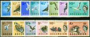 Ascension 1963 Birds Set of 14 SG70-83 V.F Very Lightly Mtd Mint