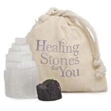 Healing Stones for You: Selenite & Black Tourmaline Room Protection Set - 1 Room