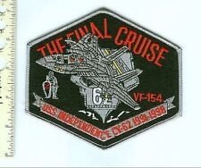 Military Patch US Navy VF-154 & CV-62 FINAL CRUISE 1998