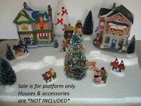 Christmas Village Display Base Platform CH22 For Lemax Dept56 Dickens + More
