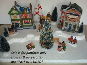 Christmas Village Display Platform CH22 For Lemax Dept56 Dickens North Pole+More