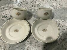 2 Mosa Maastricht Sea Turtle Cup & Saucer Sets Gold Trim, Cute!