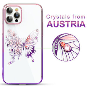 Glitter Butterfly Diamond Case Cover f iPhone 12 Pro Max With SWAROVSKI ELEMENTS