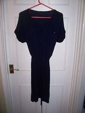 LADIES DOROTHY PERKINS NAVY SHORT  SLEEVE DRESS SIZE 14