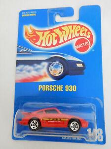 Hot Wheels 1991 Red Porsche 930 Turbo on Blue Card No.148