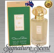 LIVE IN LOVE By OSCAR DE LA RENTA 50ml EDT Perfume For Women NEW In Box (BNIB)