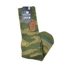 Stance Men Green Camouflage Crew Cotton MLB KC Royals Utility Socks Large 9-12