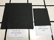 Black Scrap Leather Cowhide Remnant 9.5