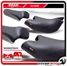 Shad Sella Confort Nera con Cuciture Grigie per Honda NC700S 12 > - NC750S 14>