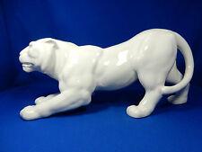 Großer Max Roesler Darmstadt Art Déco Design Keramik Tiger ~ 1930 46 cm