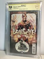 Bullseye 1 Incentive Variant Cover (2017), 9.8 CBCS, Signed By Bill Sienkiewicz