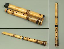 尺八 SHAKUHACHI Wooden 都山流 TOZAN-ryu school 琴風 KINPU Japanese Instrument Box s124