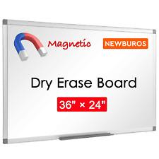 Large Magnetic Writing Whiteboard Dry Erase Board Eraser Office Aluminum Frame