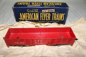 American Flyer --RARE----UNCATALOGED---RED PAINTED---#631 GONDOLA   ---- W/OB