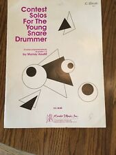 Contest Solos for the Young Snare Drummer by Murray Houliff