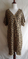 Lane Bryant NWT Animal Cheetah Print Sweater Dress Crossover Wrap Bust 22/24