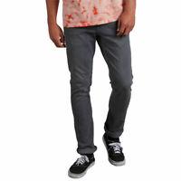 Volcom Men's 2X4 Skinny Fit Jeans Gray Vintage Clothing Apparel