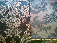 """DAMASK UPHOLSTERY OLIVE GREEN AND GOLD DOUBLE SIDED FABRIC 4.5 YDS 58"""" WIDE"""