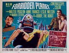 FORBIDDEN PLANET Movie Promo POSTER C Walter Pidgeon Anne Francis Leslie Nielsen