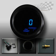 "Oil temperature /temp digital gauge smoked face 2"" / 52mm custom fit dash pod"