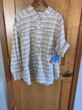 NWT Columbia Womens Silver Ridge Plaid Long Sleeve Shirt - 3X - Tan