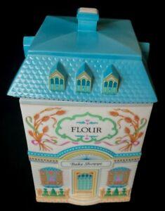 1990 Lenox Village Flour Canister (Bake Shoppe) W/Lid