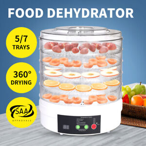 Food Dehydrators  Fruit Vegetable Beef Jerky Dryer Dehydrator Preserve 5/7 Trays