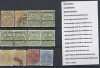Transvaal Collection of 12 Mint/VFU J1568