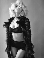 A Lady Gaga Singer Sexy Black And White 8x10 Picture Celebrity Print