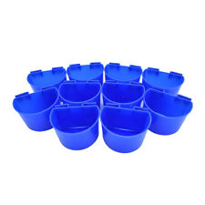 10 pcs Cup Hanging Water Feed Cage Cups Poultry Gamefowl Rabbit Chicken Pigeons