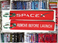 keyring SPACEX Remove Before LAUNCH Falcon 9 Heavy Dragon keychain tag RED