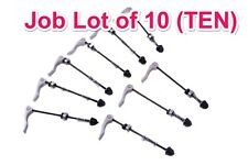 WHOLESALE JOB LOT 10 FRONT QUICK RELEASE BIKE AXLE SKEWERS 145mm BARGAIN SILVER