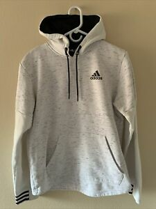 Adidas White & Black Post Game Hoodie Sweatshirt Size Medium M Men's