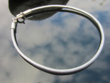 Genuine Silver Leather Cord 2mm Bracelet with 925 Sterling Silver Clasp