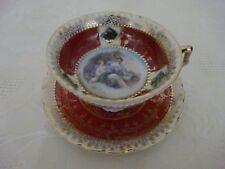 Vintage Retro Miniatura Taza de Té y Platillo China Gabinete Estilo amantes