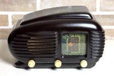 RADIO TESLA 308 U BROWN (1953) WAIMEA BAKELITE PLASKON VINTAGE TUBE USA VALVOLE
