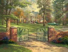 Thomas Kinkade GRACELAND 50th ANNIVERSARY Limited Edit'n Canvas 18X24 R/E SIGNED