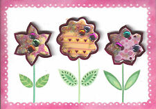 Papyrus Mother's Day Care - 3D Shaker Flowers filled with Glitter & Jewels Pink