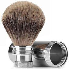 Mondial 1908 Best Badger Travel Shaving Brush Metal