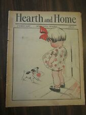 Hearth and Home February 1933 Augusta Maine Puppy & Valentine