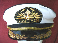 CAPTAIN HAT Unisex Captain Cap Skipper Sailor Boat Marine