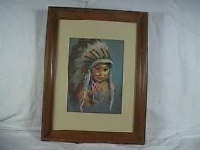 Dorothy Oxborough Print, Little Chief, Boy In Head Dress