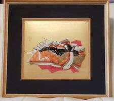 Chinese Asian Oriental 3D Handcrafted Framed Artwork Fabric