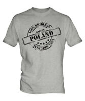 MADE IN POLAND MENS T-SHIRT GIFT CHRISTMAS BIRTHDAY 18TH 30TH 40TH 50TH 60TH