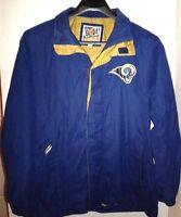 NFL St Louis Rams Men's Sz L Hooded Coat Jacket  G-III Carl Banks Blue/Gold