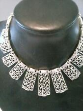 Sarah Coventry Cleopatra Style Necklace Vintage Jewelry Silver Tone